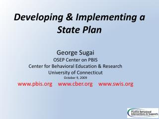 Developing & Implementing a State Plan
