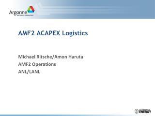AMF2 ACAPEX Logistics