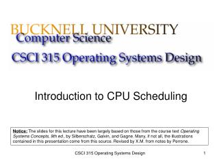 Introduction to CPU Scheduling