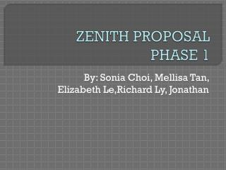 ZENITH PROPOSAL  PHASE 1