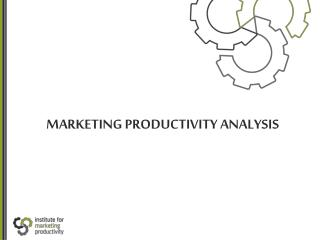 MARKETING PRODUCTIVITY ANALYSIS