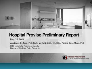 Hospital Proviso Preliminary Report