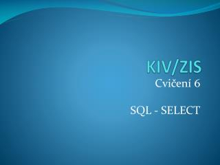 KIV/ZIS