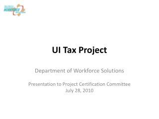 UI Tax Project