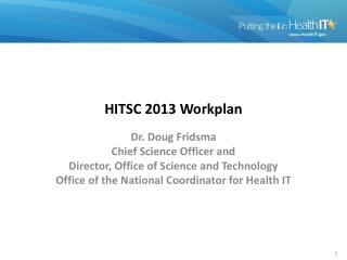 HITSC 2013  Workplan