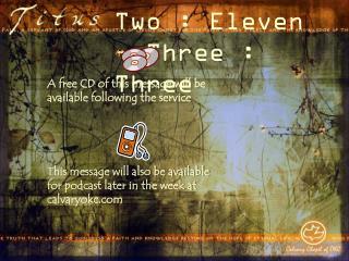 Two : Eleven � Three : Three