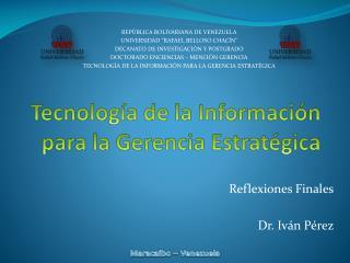 Tecnología de la Información para la Gerencia Estratégica