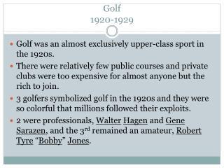 Golf 1920-1929