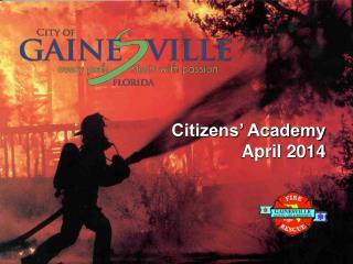 Citizens� Academy April 2014
