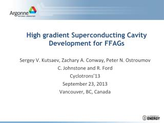 High gradient Superconducting Cavity Development for FFAGs
