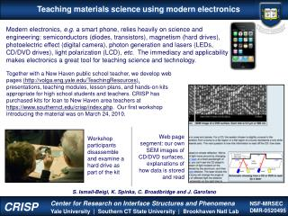 Teaching materials science using modern electronics