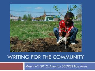 Writing for the Community