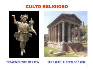CULTO RELIGIOSO