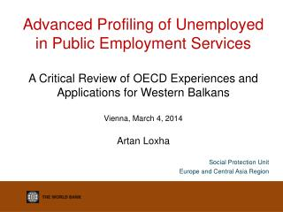 Social Protection Unit Europe and Central Asia Region