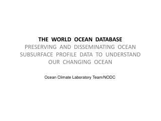 Ocean Climate Laboratory Team/NODC