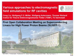 Various approaches to electromagnetic field simulations for RF cavities