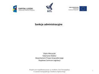 Sankcje administracyjne