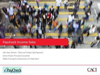 Paycheck  Income Data