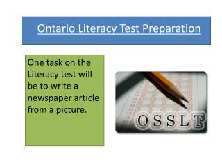 Ontario Literacy Test Preparation