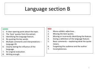 Language section B