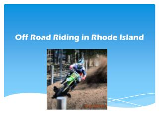 Off Road Riding in Rhode Island