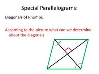 Special Parallelograms: