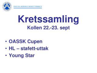OASSK Cupen HL –  stafett-uttak Young Star