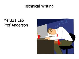 Technical  Writing Mer331  Lab Prof Anderson