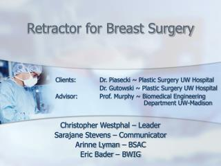 Retractor for Breast Surgery