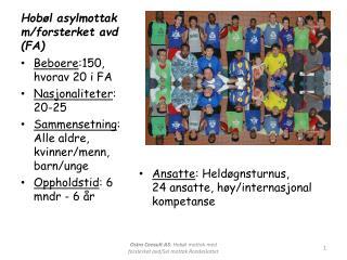 Hobøl asylmottak  m/ forsterket avd  (FA)