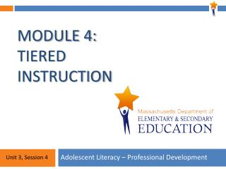Module 4: Tiered Instruction