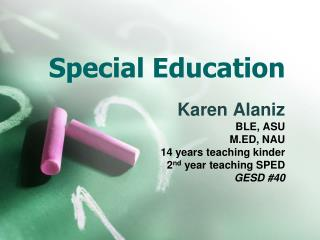 Special Education