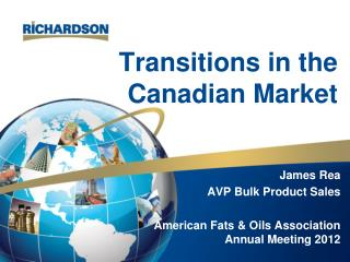 Transitions in the Canadian Market