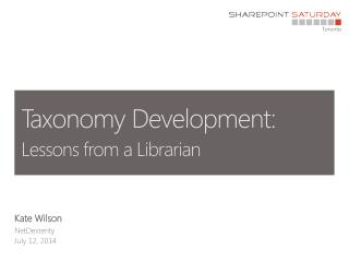 Taxonomy Development: Lessons from a Librarian