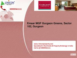 Gurgaon Greens | 09999561111 | Emaar MGF Gurgaon Greens