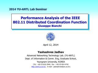 2014 YU-ANTL Lab Seminar