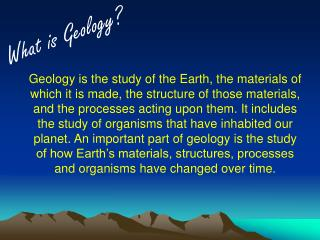 What is Geology?