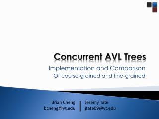 Concurrent AVL Trees