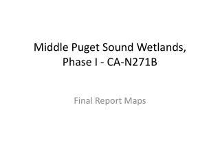 Middle Puget Sound Wetlands, Phase  I -  CA-N271B