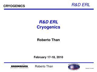 R&D ERL Cryogenics