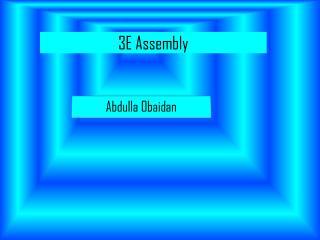 3E  A ssembly