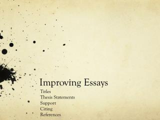 Improving Essays