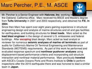 Marc  Percher , P.E., M. ASCE