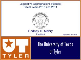 Legislative Appropriations Request Fiscal Years 2010 and 2011