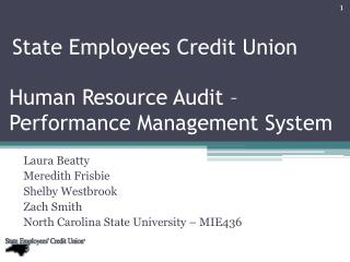 Human Resource Audit � Performance Management System