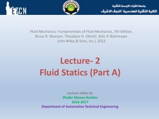 Fluid Statics
