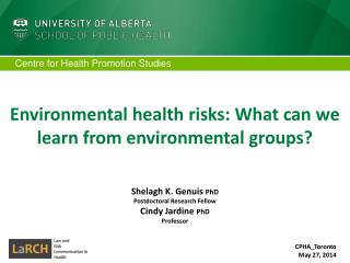 Environmental health risks: What can we learn from environmental groups?
