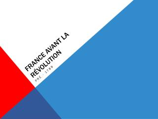 France  avant  la  Révolution