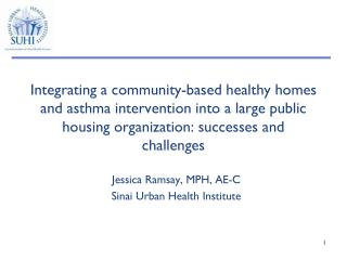 Jessica Ramsay, MPH, AE-C Sinai Urban Health Institute