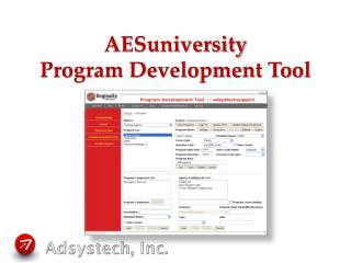AESuniversity Program Development Tool